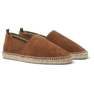 Cataner 100% leather slip on espadrilles loafers